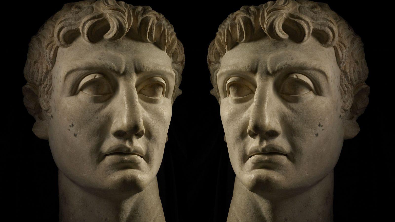 Marmorbüste des römischen Imperator Caesar Divi filius Augustus