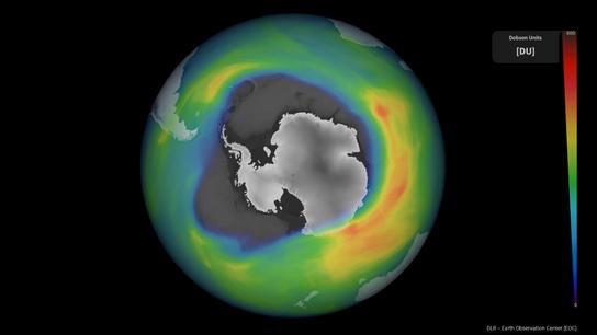 18 Millionen Quadratkilometer: Das Ozonloch über der Antarktis war Anfang Dezember 2020 so groß wie noch ...