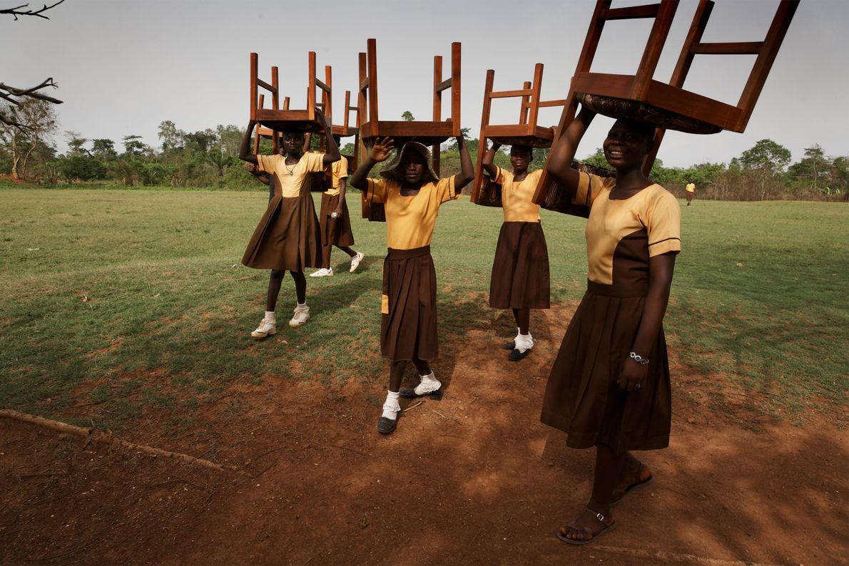 Schulmädchen in Ghana