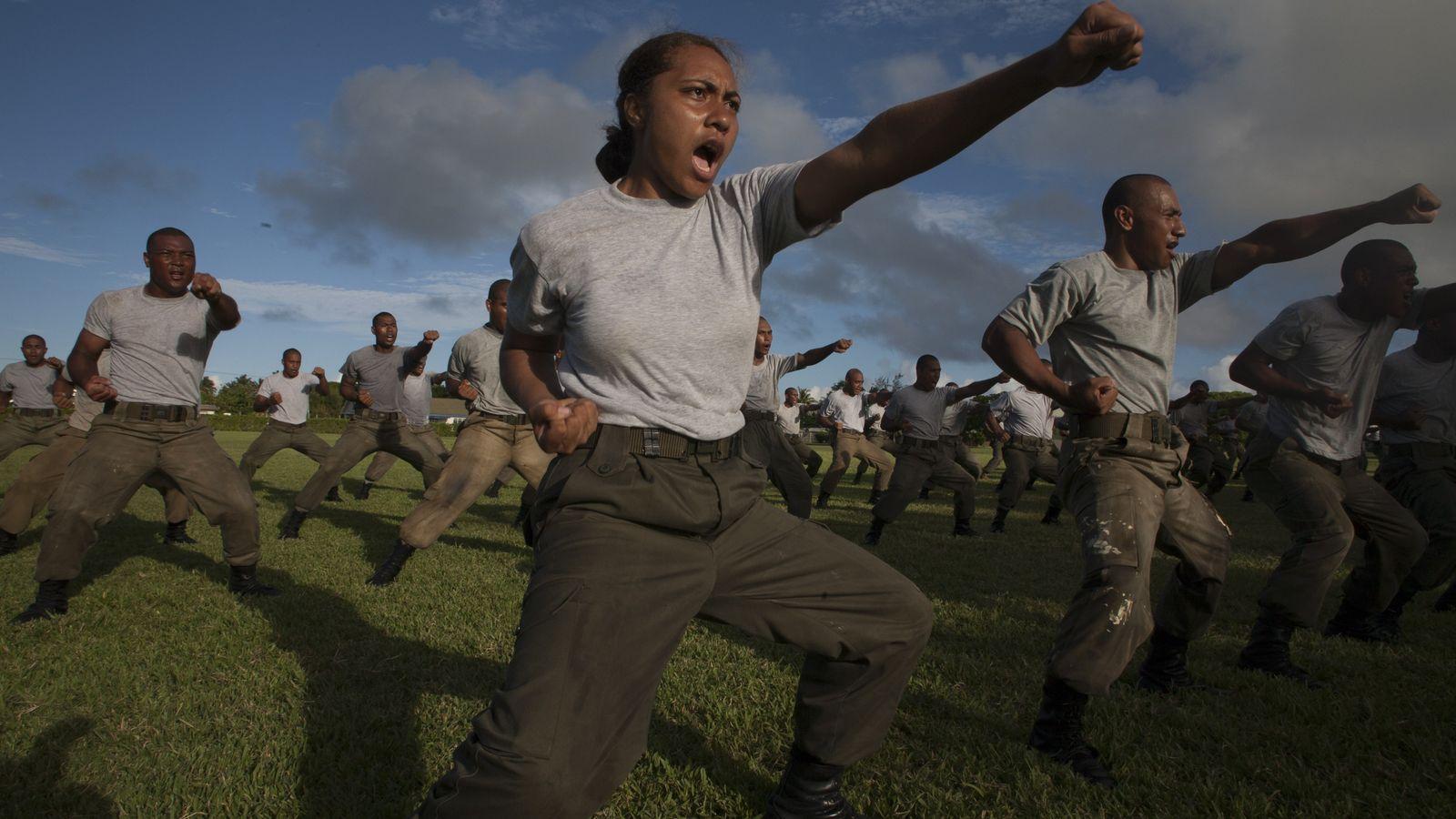 Rekruten der Tonga Defense Services