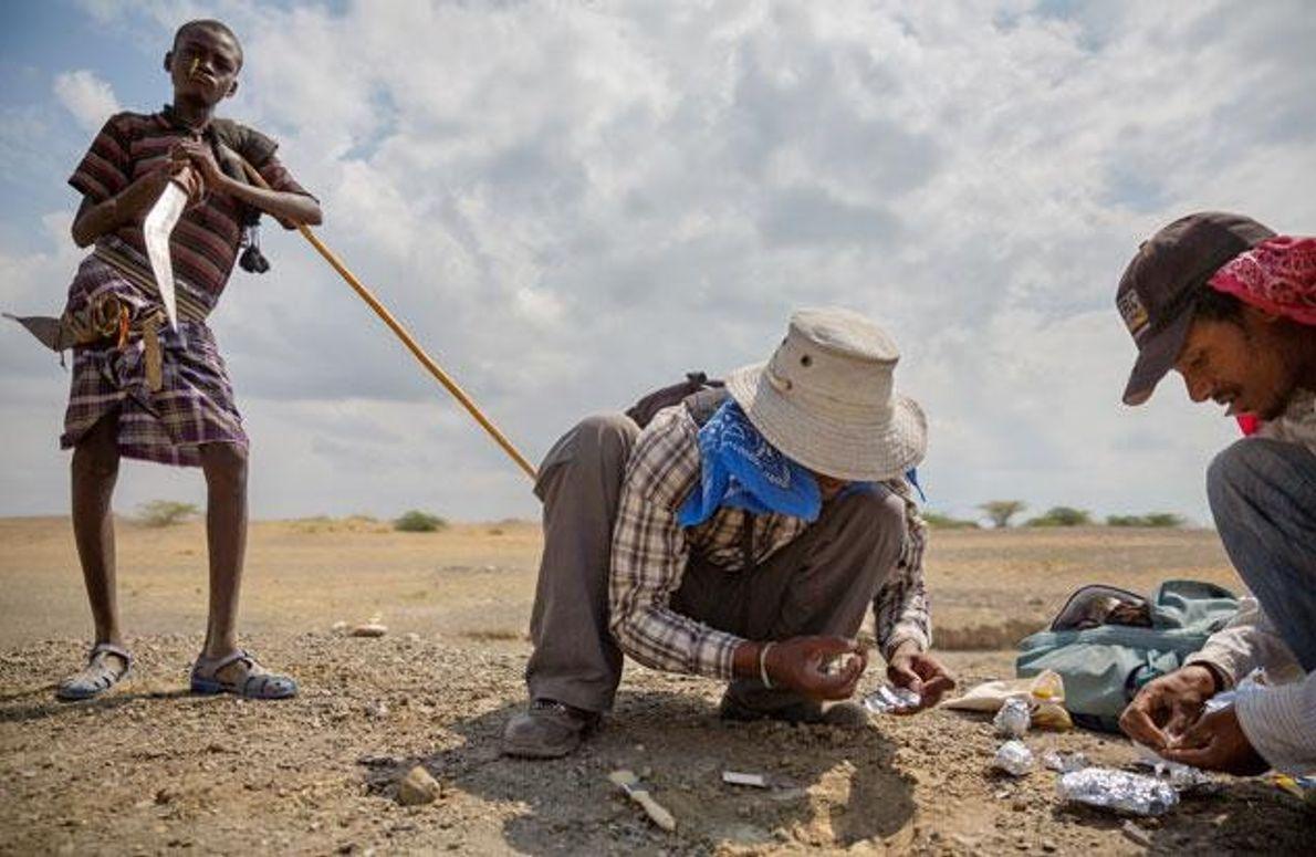 Paläontologen in der Afar-Wüste