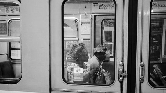 In der Pariser Metro.