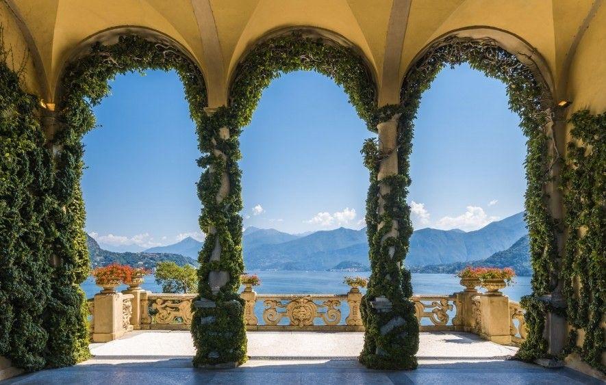 Die Villa del Balbianello am Ufer des Comer Sees. Einst das Zuhause eines adeligen Abenteurers wurde ...