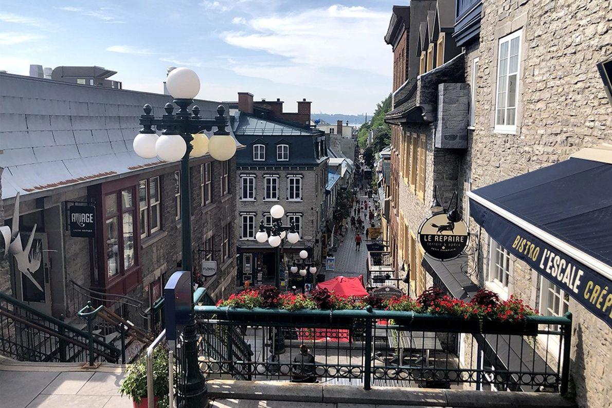 Die Sous Le Fort Street im Petit Champlain lädt zum Schlendern ein.