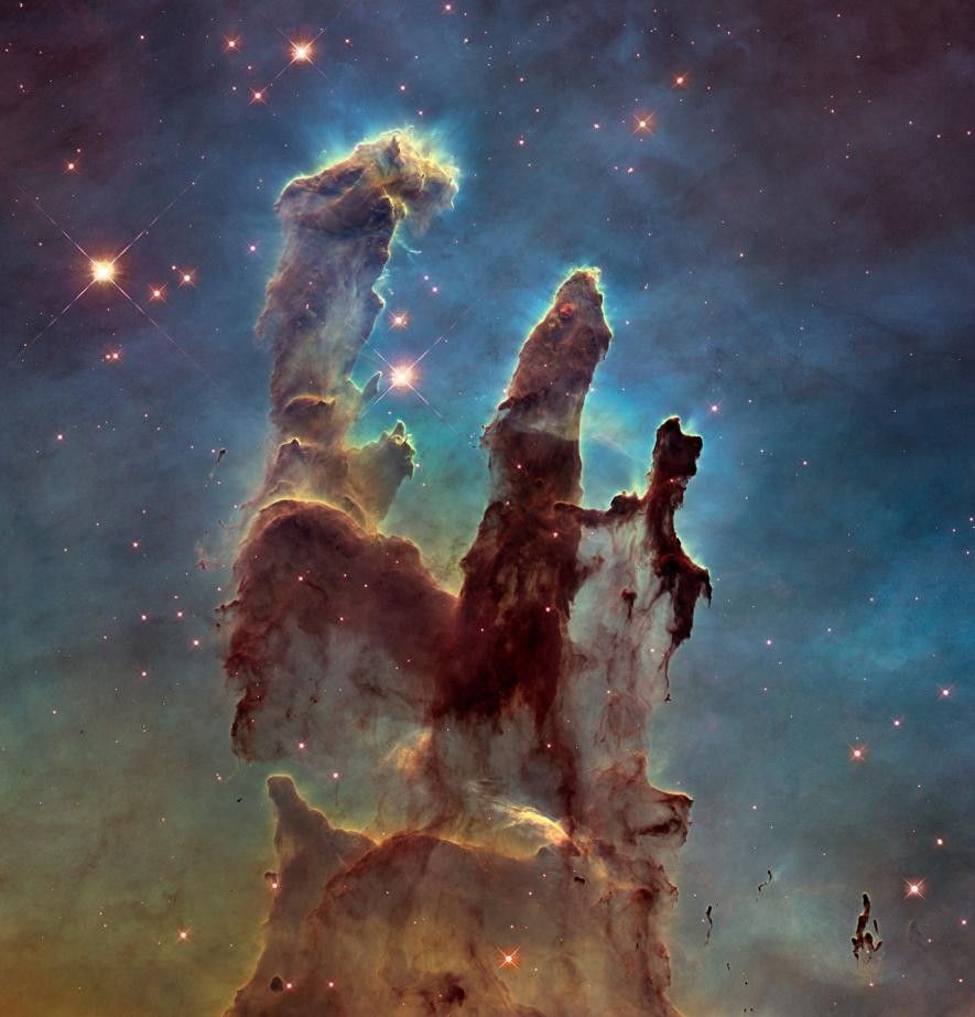 Die Säulen der Schöpfung, 2014, Aufnahme des Hubble-Weltraumteleskops