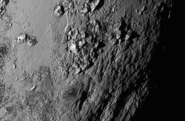 Plutos Berge aus Eis