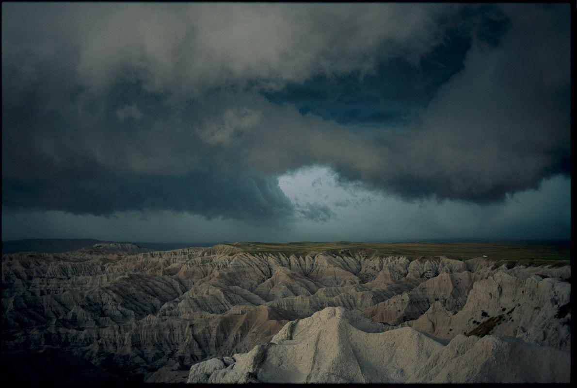 Sturm in den Badlands