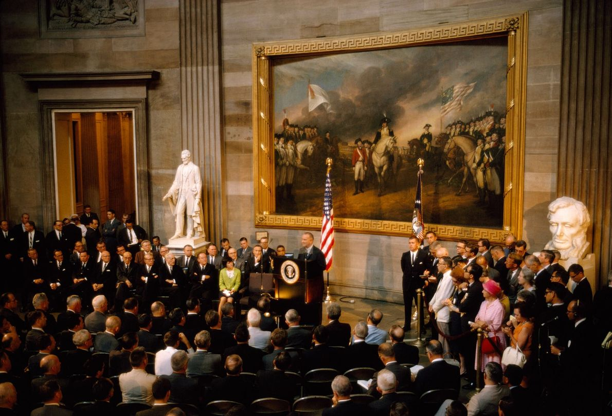 Rede des Präsidenten Lyndon B. Johnson