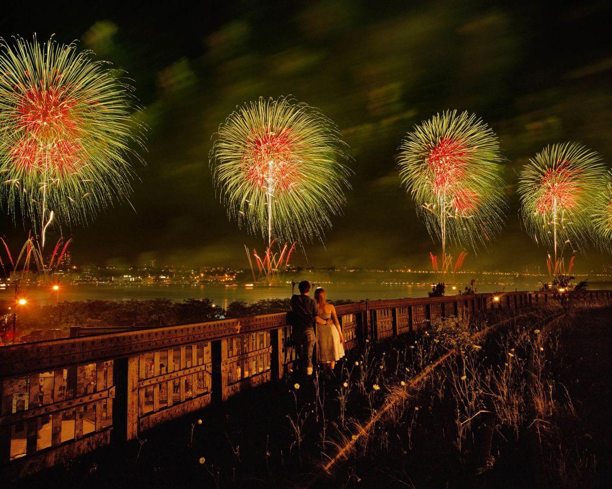Feuerwerk zum Independence Day in New York City