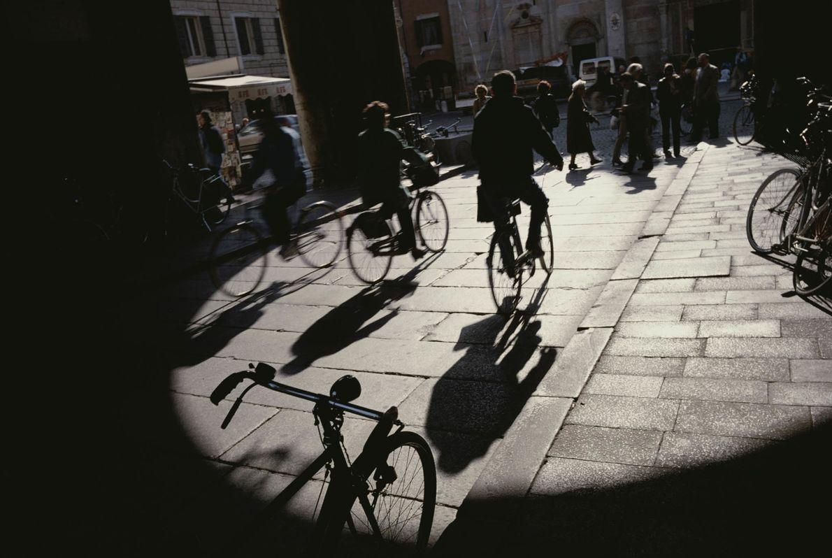 Radfahrer in Ferrara