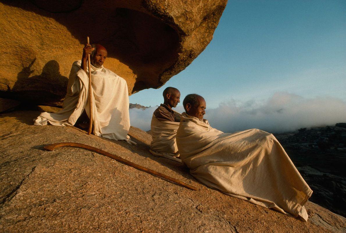 Meditation beim Sonnenuntergang