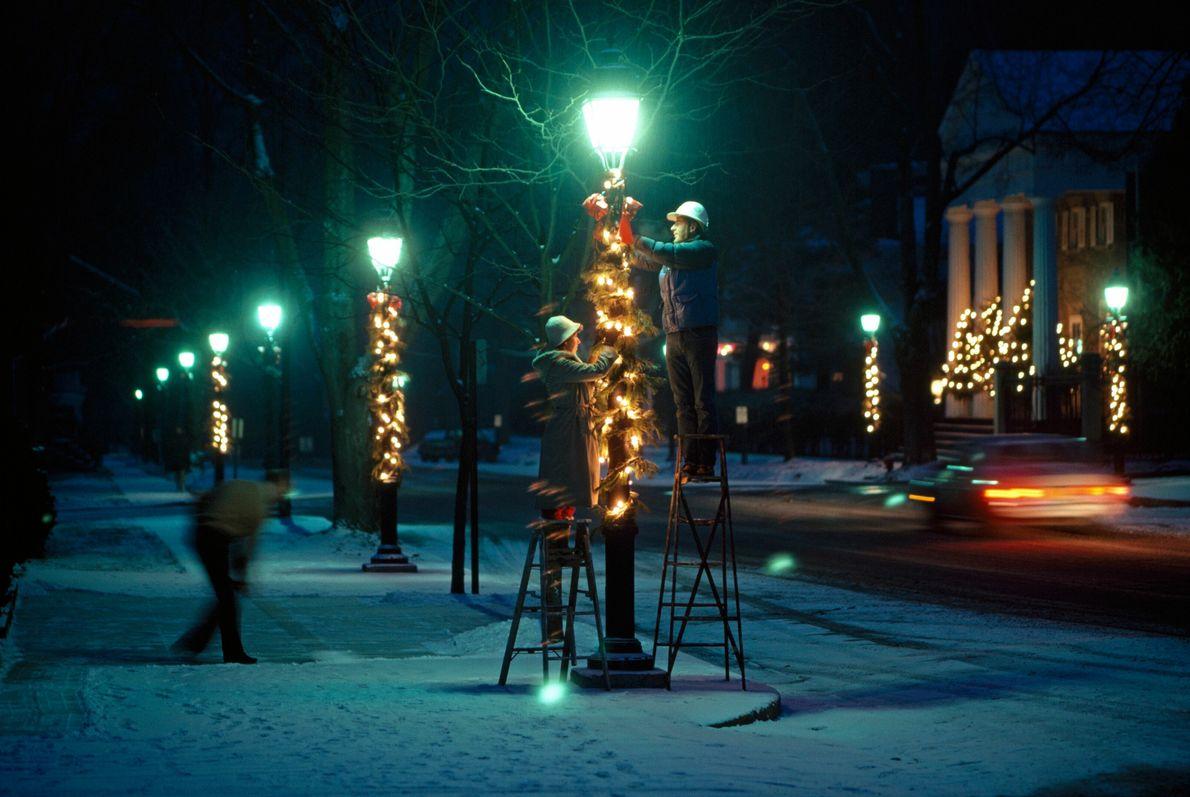 Weihnachtsdeko in Cooperstown