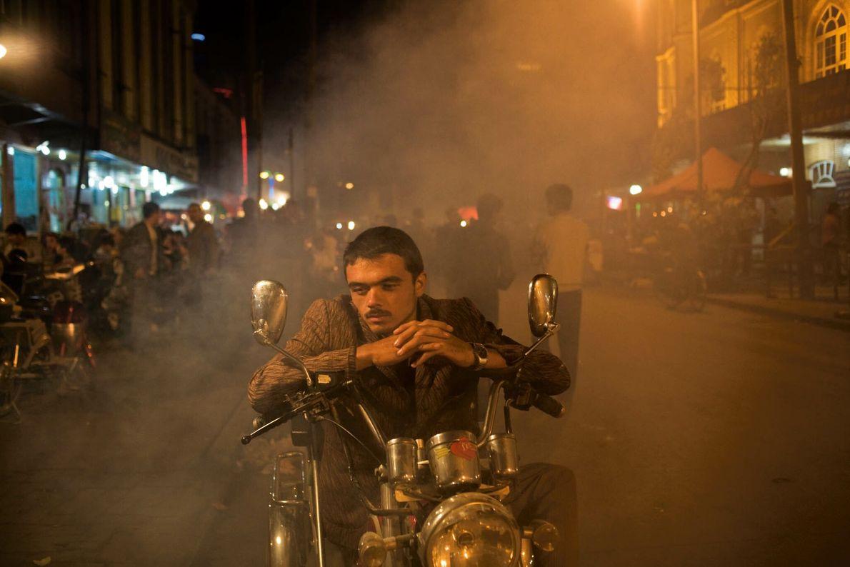 Uigurischer Taxifahrer in China