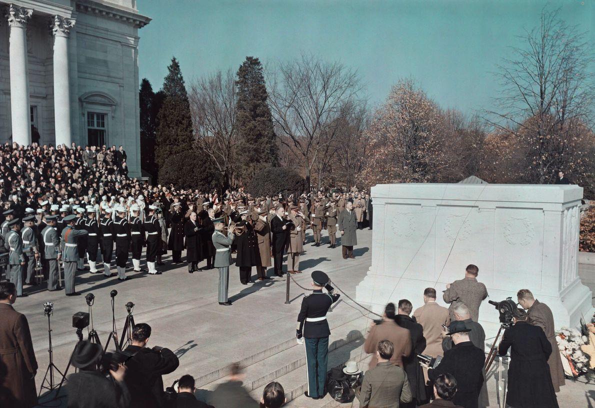 Zeremonie zum Armistice Day