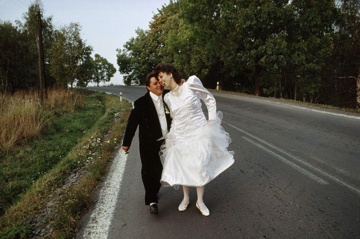 Brautpaar in der damaligen Tschechoslowakei