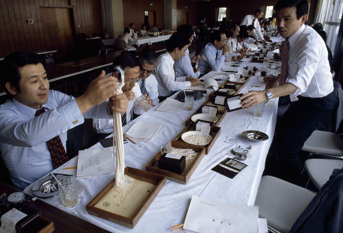 Japanische Perlenhändler