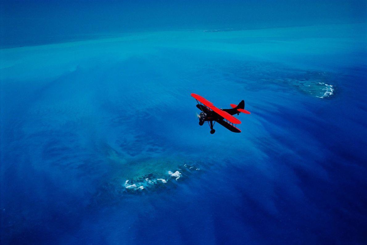 Doppeldecker über dem Florida Keys National Marine Sanctuary
