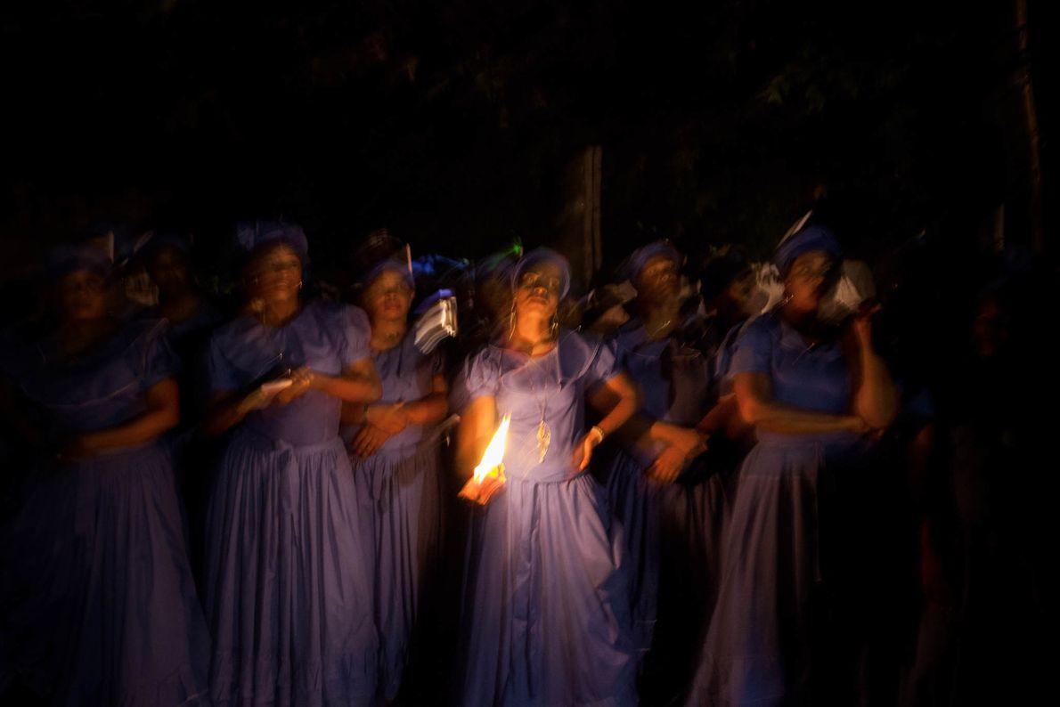 Haitianische Zeremonie für Ezili Danto