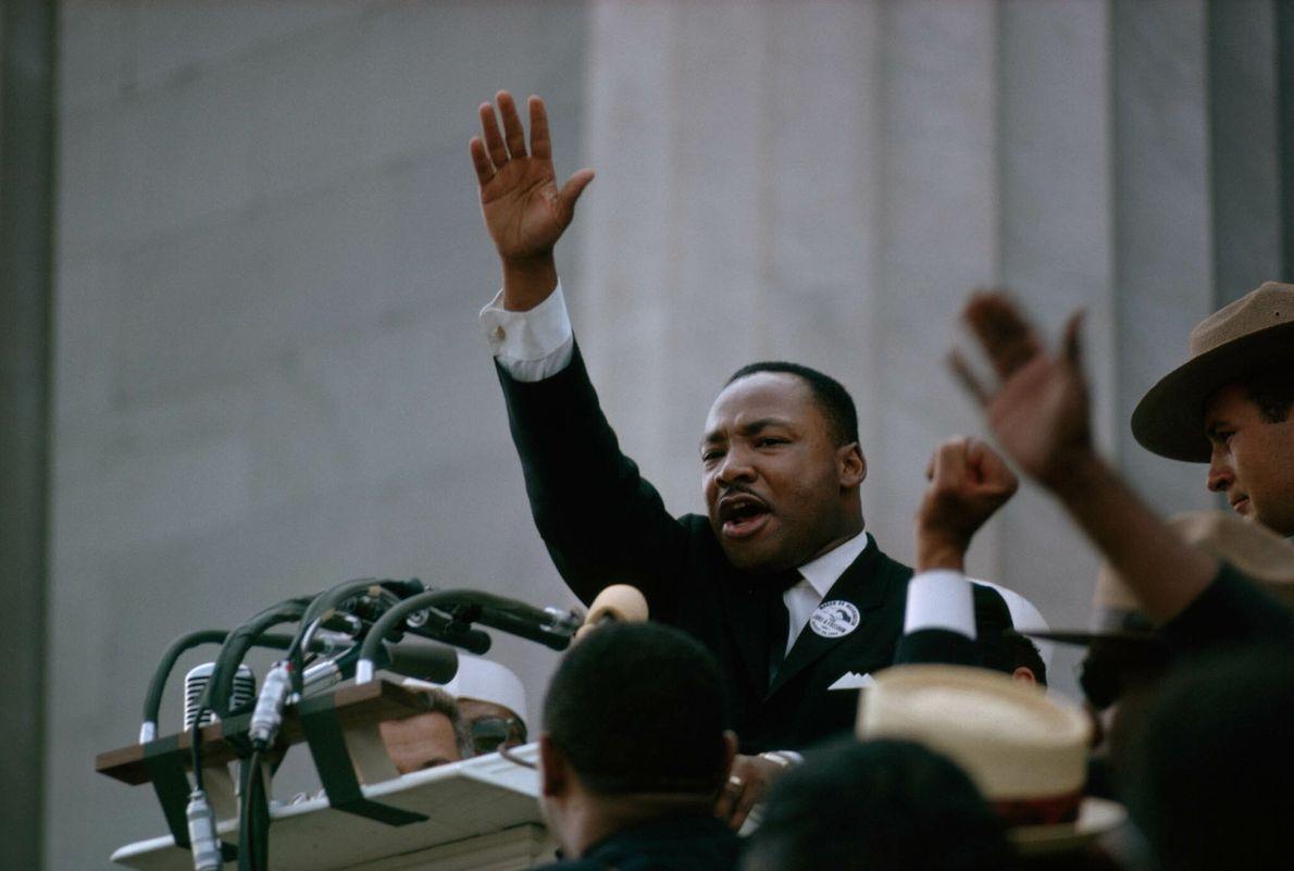 Martin Luther King Jr. bei einer Rede