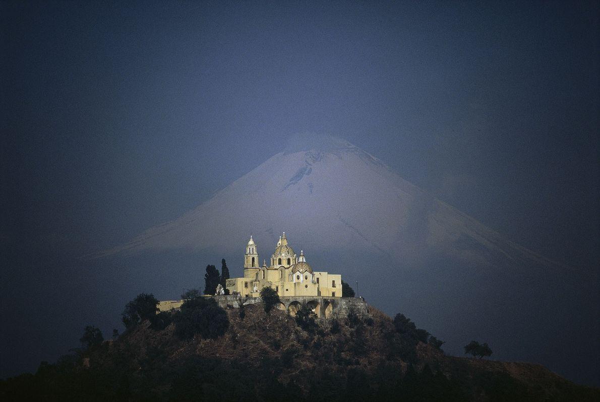 Die Pyramide von Cholula in Puebla, Mexiko