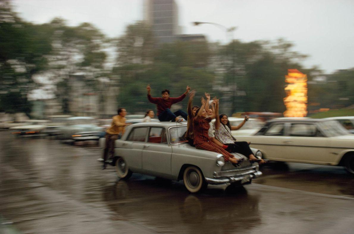 Mexikanische Fußballfans 1970