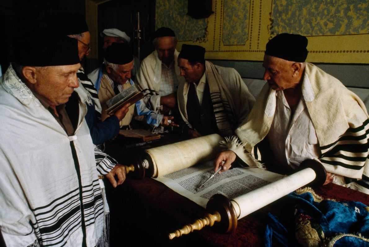 Synagogenbesuch ohne Rabbiner in Kiew
