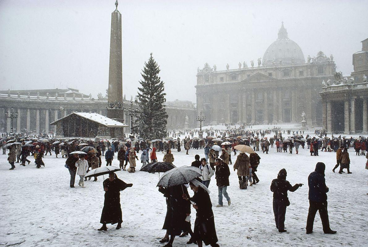 Schnee in Vatikanstadt 1985