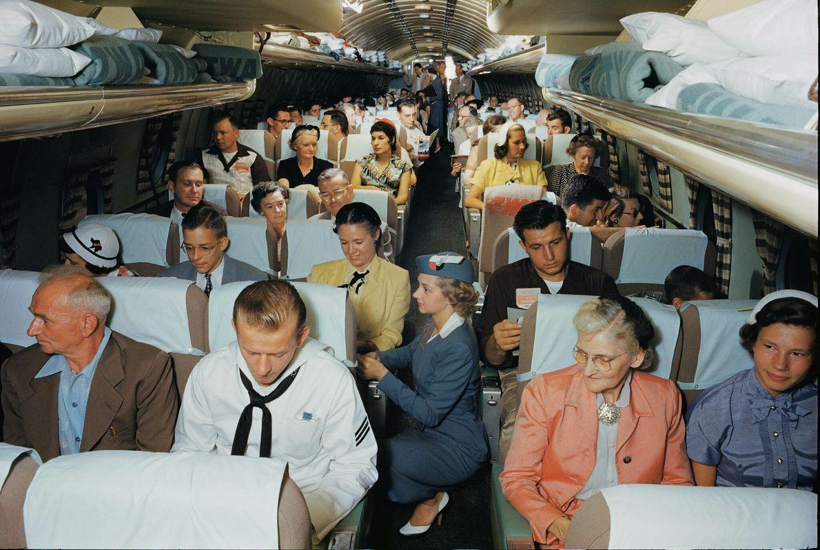 Flugzeugkabine mit Schlafplätzen