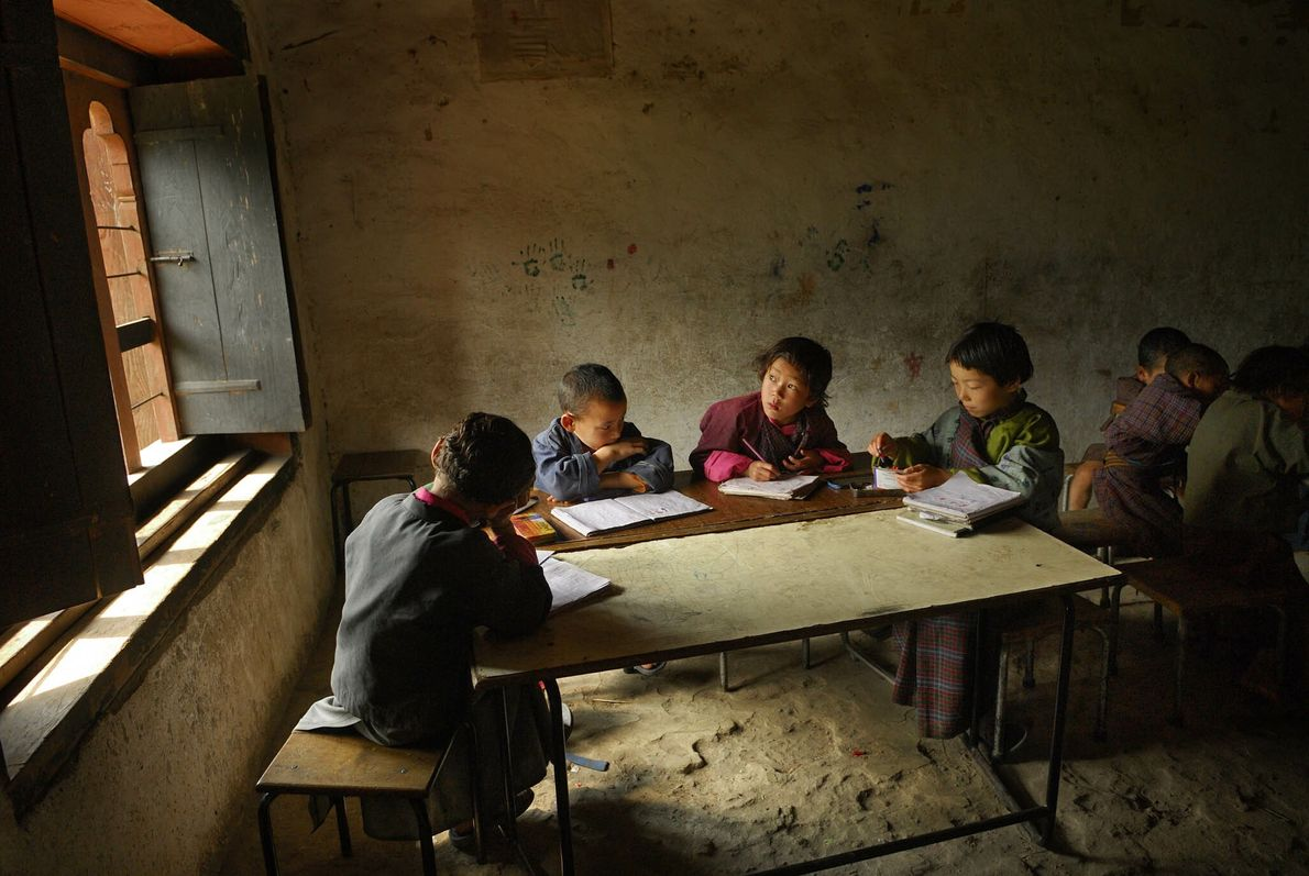 Dorfschule in Bhutan