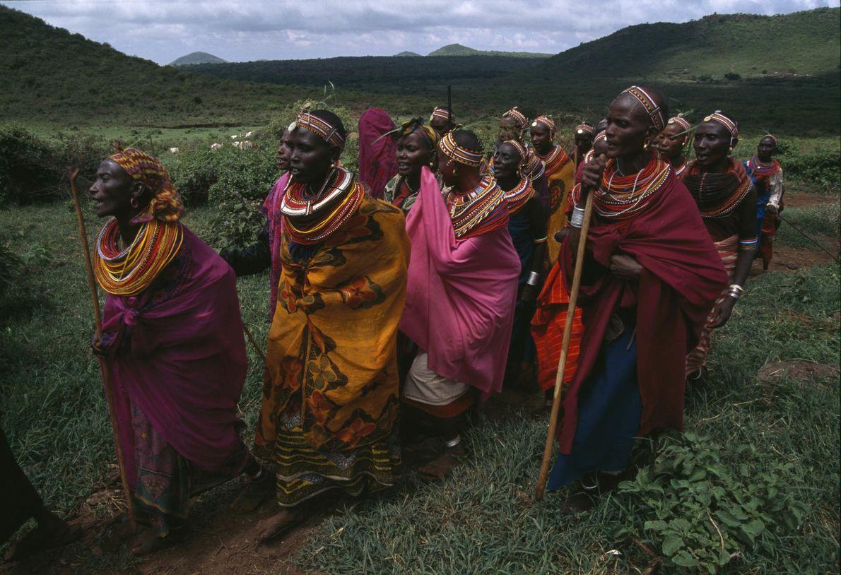 Ariaal-Frauen in Kenia