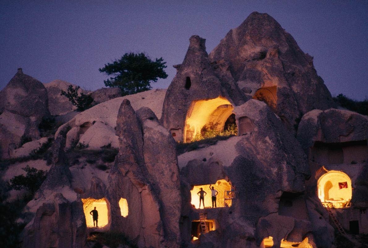 Höhlenwohnungen in Kappadokien, Türkei