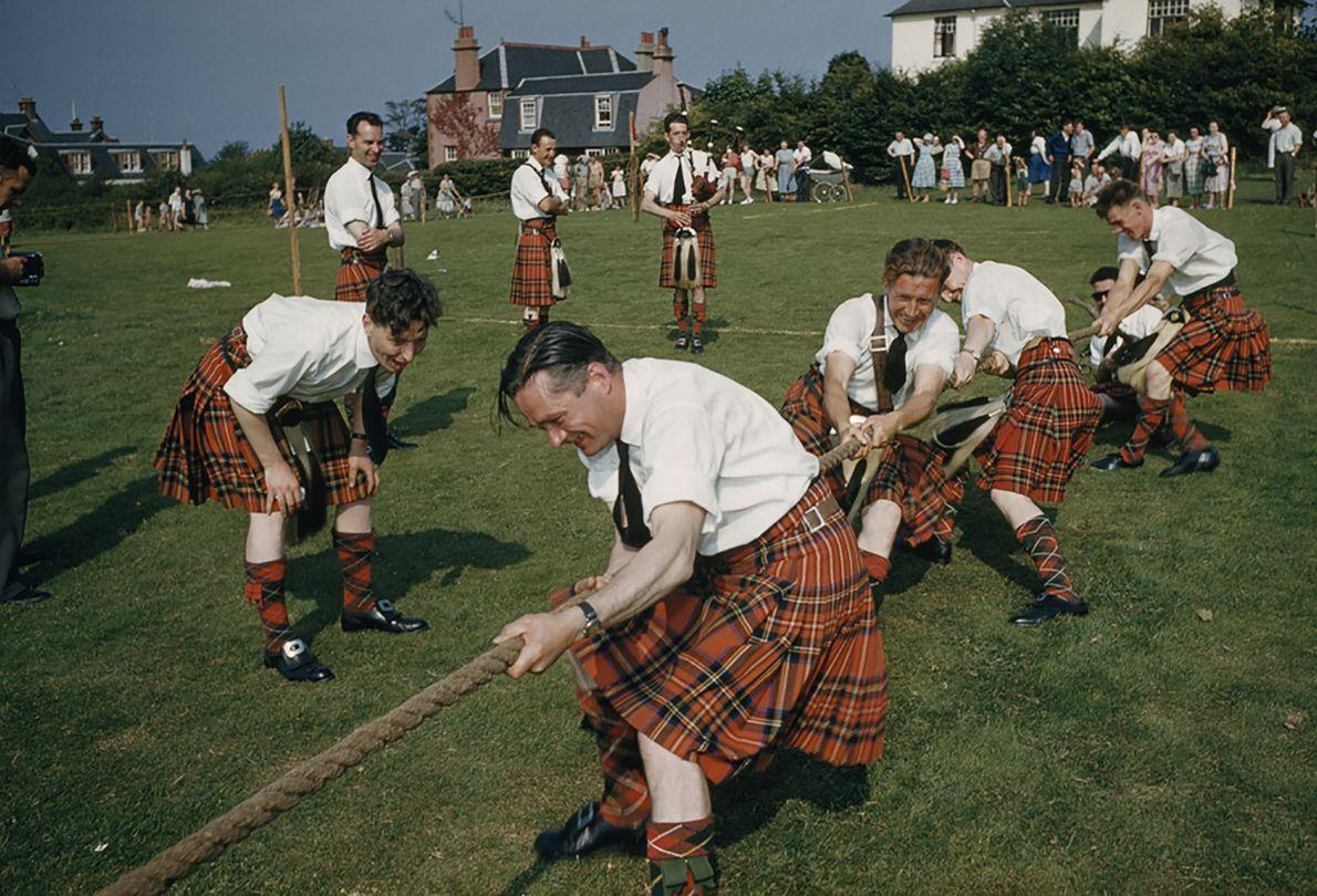 Tauziehen bei den Highland Games