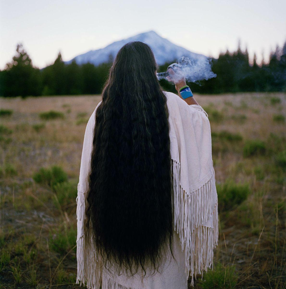 Stammesoberhaupt des Winnemem-Wintu-Stammes