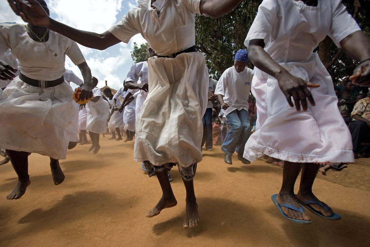 Geflüchtete feiern in Uganda