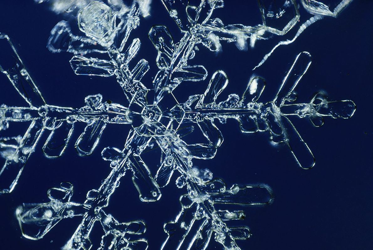Abdruck einer Schneeflocke