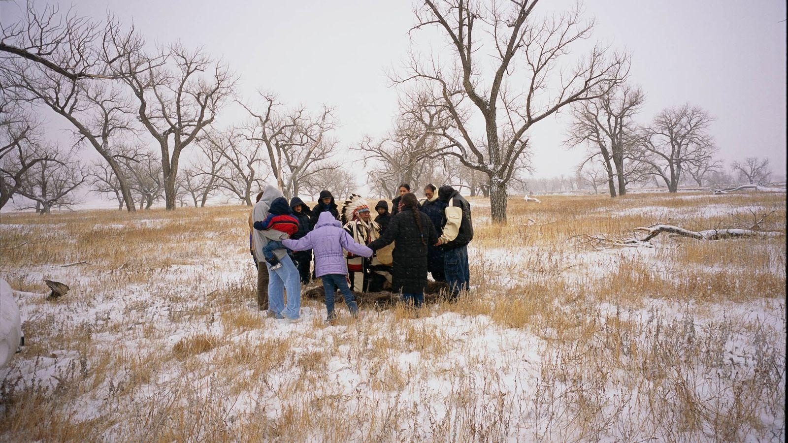 Lakota-Sioux in South Dakota