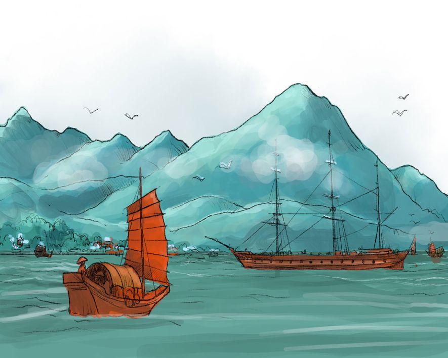 VOR 1800: Hongkong ist ein abgelegenes Fischerdorf unter chinesischer Herrschaft. Britische Händler tauschen dort illegal eingeführtes ...