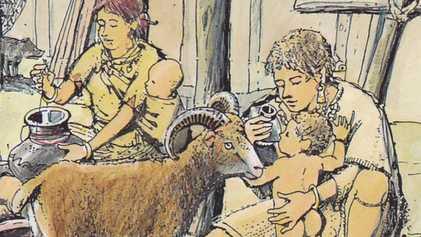 Steinzeitliche Babynahrung: Was fütterten Eltern damals?
