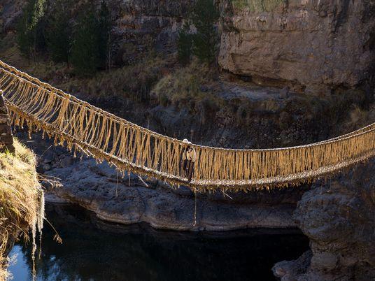 Die letzte Hängebrücke der Inka