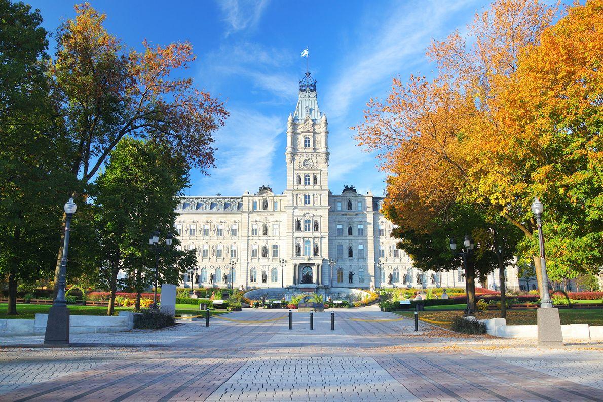 Eingang von Québecs Parlamentsgebäude
