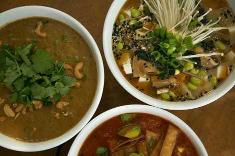 Das Soup & Cie ist ein echtes Paradies für Suppenfreunde und hat Gerichte aus aller Welt auf der Karte.