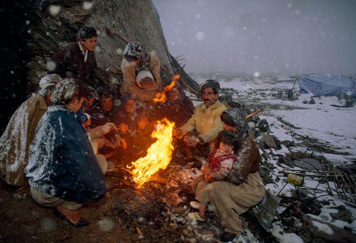 In den frühen Neunzigern floh diese Familie aus ihrer vom Krieg zerrissenen Heimat bei Kirkuk im ...