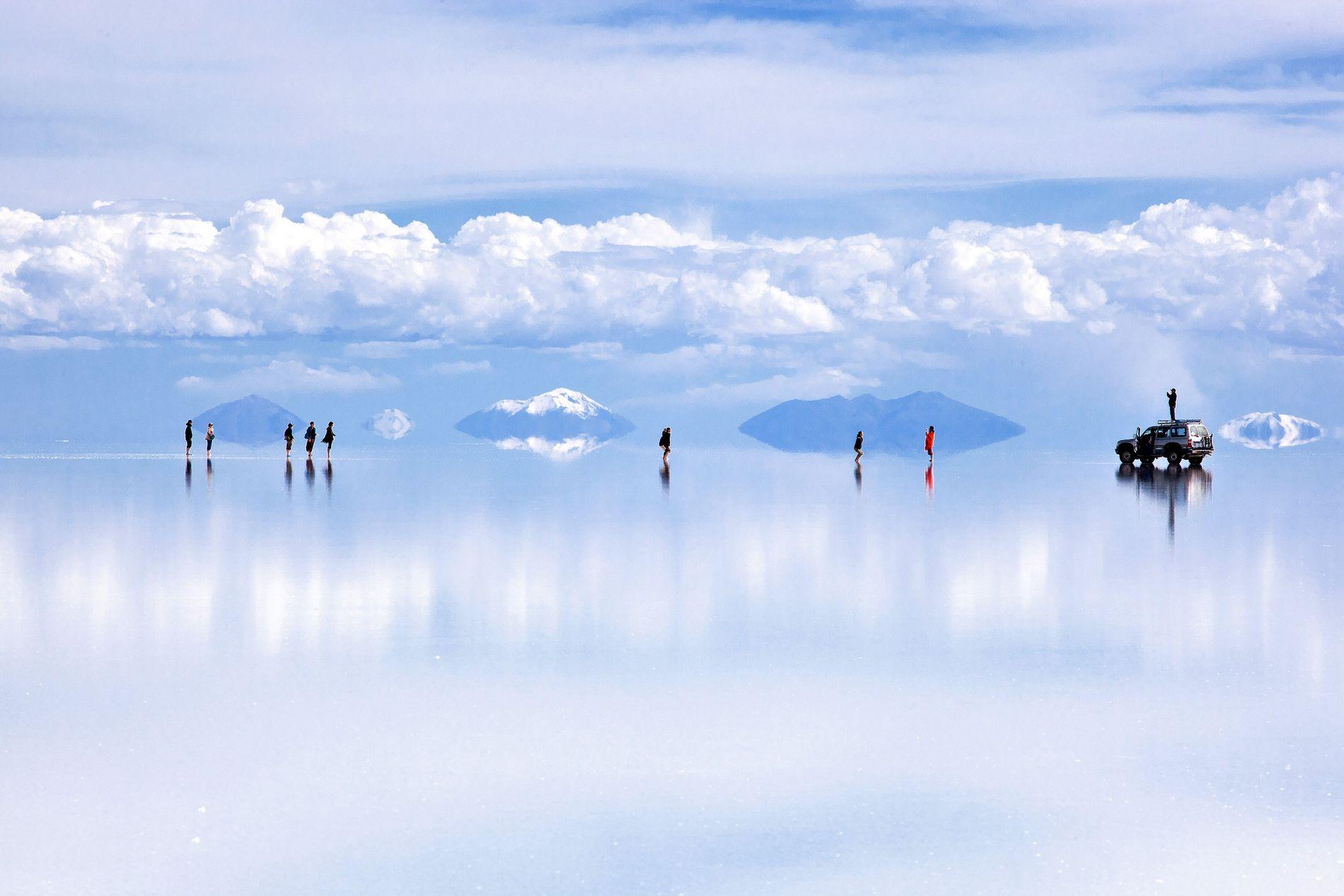 Die Weiten von Boliviens Salzpfanne gehören zu den schönsten Anblicken der Erde