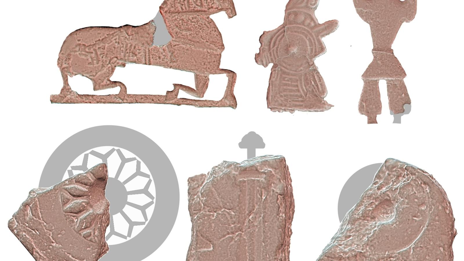Aus Formen, die in Ribe, Dänemark gefunden wurden, kann eine große Zahl verschiedener Figuren hergestellt werden. ...