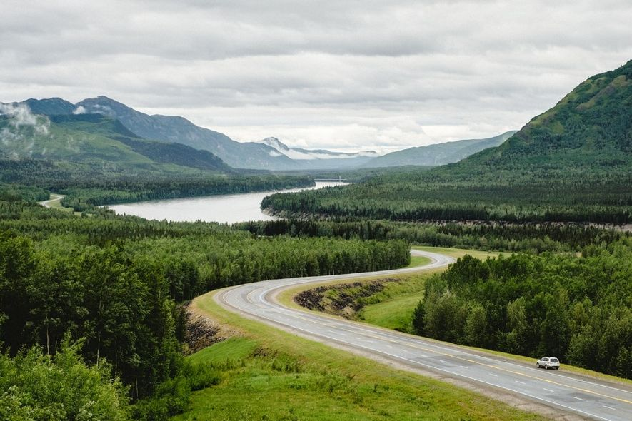 Das Liard Valley am Alaska Highway.