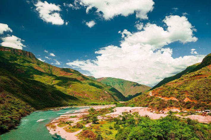 Der Chicamocha fließt durch den gleichnamigen Canyon in Kolumbien.