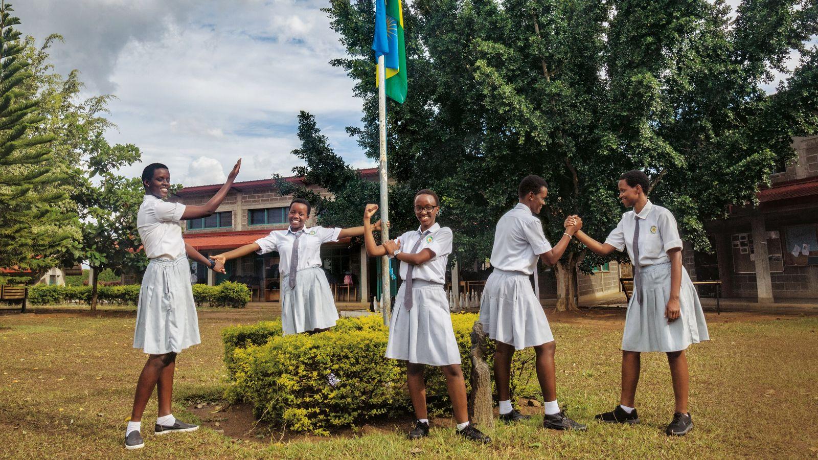 Mädchen in Ruanda