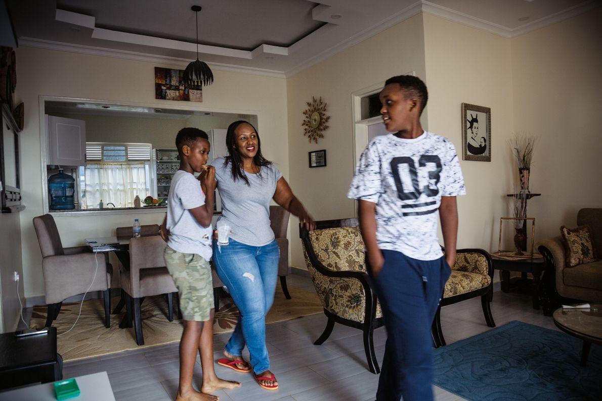 Familie in Ruanda
