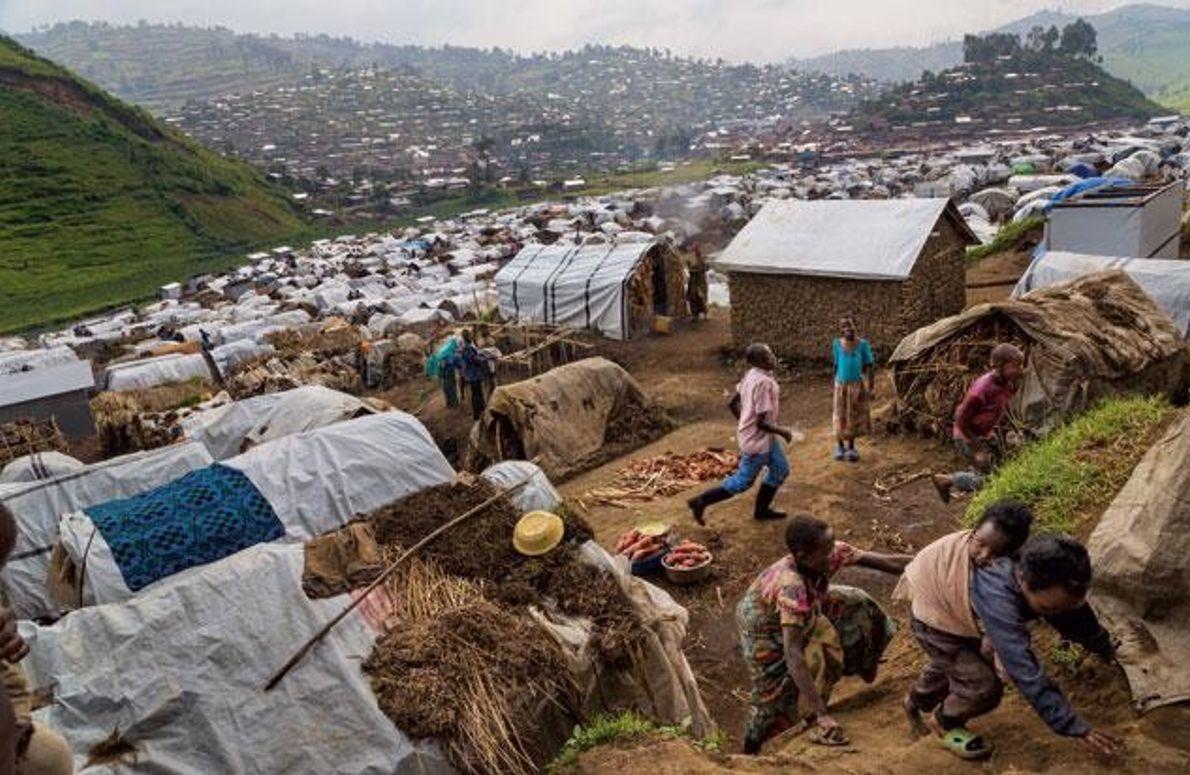 Rubaya-Camp in der Provinz Nord-Kivu