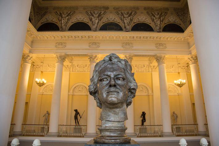 Eine Büste des russischen Zaren Peter dem Großen im Russischen Museum.